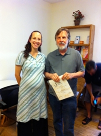 With Ruth, George's Hebrew instructor