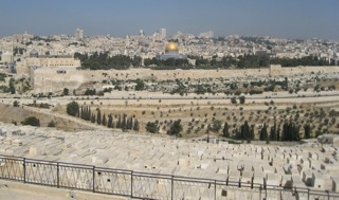 The Temple Mount from the Mount of Olives