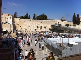 The Western Wall and the Temple Mount